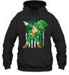 Dabbing Leprechaun Irish American Flag St Patrick's Day Shirt