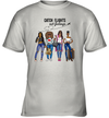 Girl's Friends Catch Flights Not Feelings Shirt