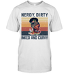 Black Girl Books Flowers Nerdy Dirty Inked And Curvy Vintage Shirt