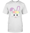 Cute Easter Bunny Face Pastel Shirt For Girls