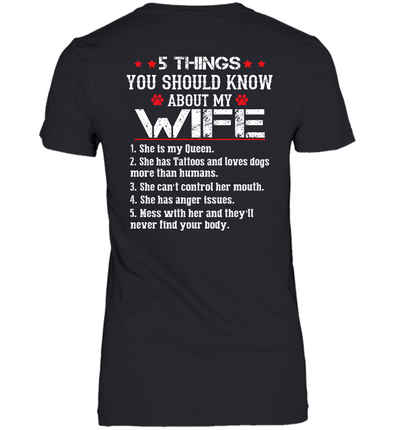 5 Things You Should Know About My Wife She Is My Queen Shirt