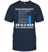 Never Underestimate An Old Man With A Mixing Console Shirt