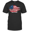 The Millennium Falcon American Flag 4th Of July Shirt Funny Independence Day American Gift