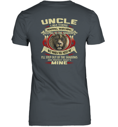 Uncle I Am There Waiting Watching Keeping To The Shadows Black Men Shirt