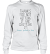 Thanks For Not Hitting It And Quitting It Happy Father's Day Shirt