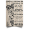 The lion king to my amazing granddaughter never forget how much I love you grandma Poster