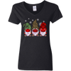 Quarantine Christmas Gnomes Wearing Buffalo Plaid Gift Shirt