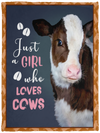 Heifer Just Girl Who Loves Cows Blanket - Cow Fleece Blanket