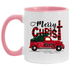 Merry Christmas Buffalo Plaid Red Truck Xmas Tree Christmas Mug