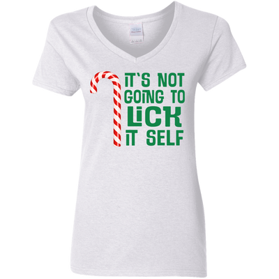 It's Not Going To Lick Itself Christmas Candy Cane Funny Shirt