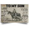 Horse To My Son Wherever Your Journey In Life May Take You Poster
