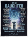 Daughter Blanket - Lions To My Daughter If I Had To Choose Between Loving You and Breathing I Would Use My Last Breath To Say I Love You Love Dad Fleece Blanket