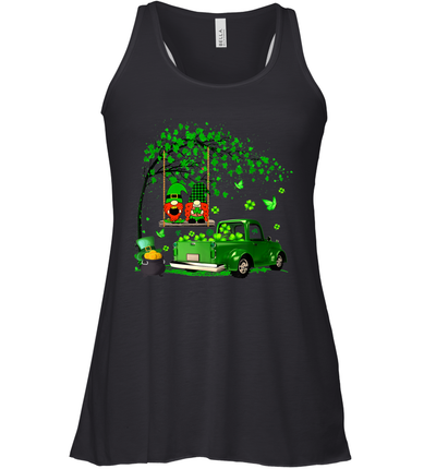 Green Gnomes Truck Shamrock Happy Saint Patrick's Day Shirt