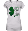 I'm An Irish Woman I Was Born With My Heart On My Sleeve A Fire Shirt