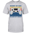 Controller Daddy By Day Gamer By Night Vintage Shirt Funny Father's Day Gifts