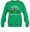 Let The Shenanigans Begin Flamingo Happy St Patrick's Day Shirt