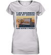 I Like Bourbon And My Smoker And Maybe 3 People Wine Vintage Shirt