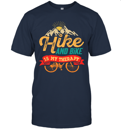 Hike And Bike Is My Therapy Sport Casual Shirt
