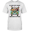 Hippie Girl And Dogs Witch On A Dark Desert Highway Cool Wind In My Hair Halloween Shirt