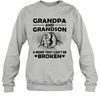 Grandpa And Grandson A Bond That Can't Be Broken Shirt Funny Father's Day Gifts