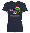 LGBT Stitch Ohana Means Nobody Gets Left Behind Shirt
