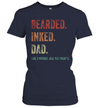 Bearded Inked Dad Like A Normal Dad But Badass Shirt