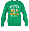 She's Eating For Two I'm Drinking For Three St Patrick's Day Shirt