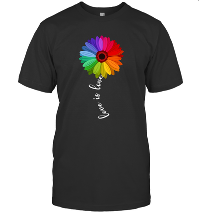 Love Is Love Love Daisy LGBT Rainbow Gay Lesbian Shirt