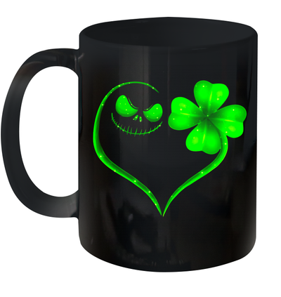 Jack Skellington And Irish Four Leaf Clover St Patrack's Day Mug