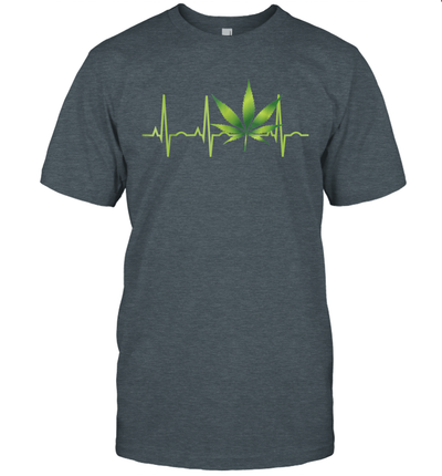 Weed Canabis Leaf Heartbeat Shirt
