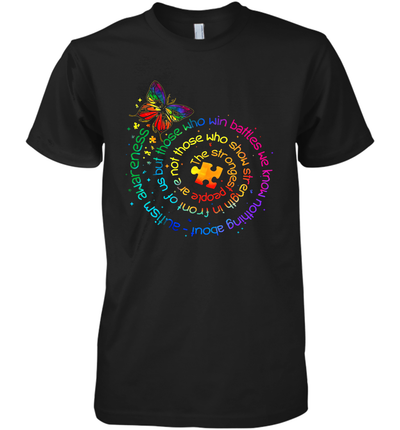 Butterfly Autism Awareness The Strongest People Puzzle Piece Shirt