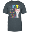 100 Days Of School No Prob LLama Shirt