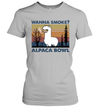 Llama Wanna Smoke Alpaca Bowl Vintage Shirt