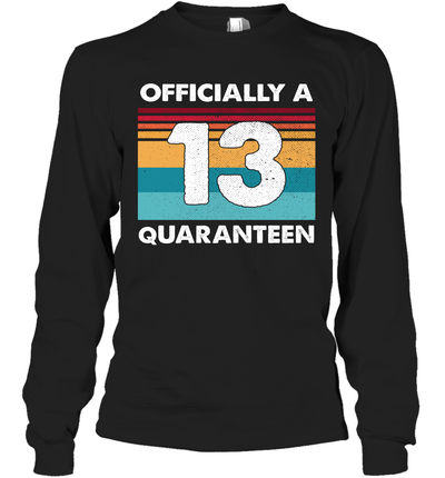 13th Birthday Officially A Quaranteen Teenager 13 Years Old Vintage Shirt