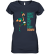 Flamingo Don't Make Me Put My Foot Down St Patrick's Day Shirt