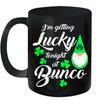Funny Bunco St Patrick's Day Gnome Getting Lucky At Bunco Mug
