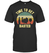 Thanksgiving Retro Turkey Wine Time To Get Basted Shirt
