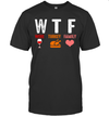 Wtf Wine Turkey Family Funny Thanksgiving Gift Shirt