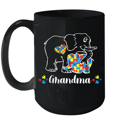 Grandma Bear Support Autism Awareness Day Mug