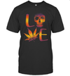 Love Weed Skull Cannabis Sugar Skull Shirt