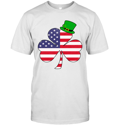 Irish American Flag Shamrock St Patricks Day Shirt