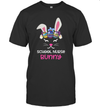 School Nurse Bunny Face Egg Costume Easter Day Gift Shirt