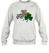 Irish Shamrocks Leopard Buffalo Plaid St Patrick's Day Shirt