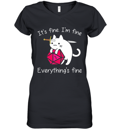 Cat It's Fine I'm Fine Everything's Fine Shirt