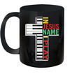 Vintage In Jesus Name I Play Piano Gift For Piano Lover Mug