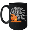 I Am Black Excellence Strong Woman Word Art Hair Mug