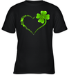 Puzzle Heart Shamrock St Patrick's Day Autism Awareness Gifts Shirt