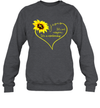 Sunflower Jesus Heart It's Not Religion It's A Relationship Shirt