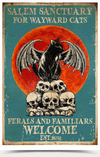 Salem Sanctuaru For Wayward Cats Ferals And Familiars Welcome Poster