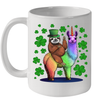 Leprechaun Sloth Riding Llama Unicorn St Patrick's Day Mug